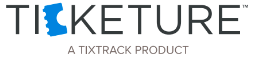 Ticketure from TixTrack Logo (White)